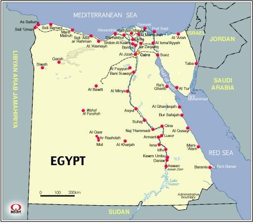 エジプト地図 エジプトの時刻 エジプト地図