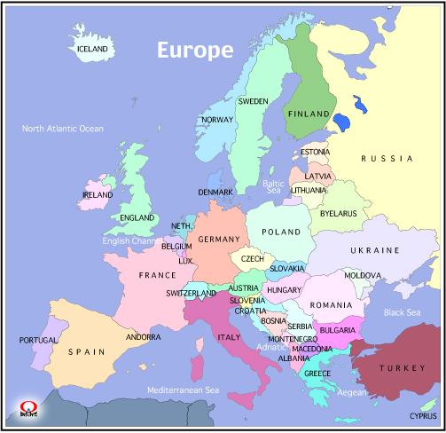 世界地図 ヨーロッパ 首都